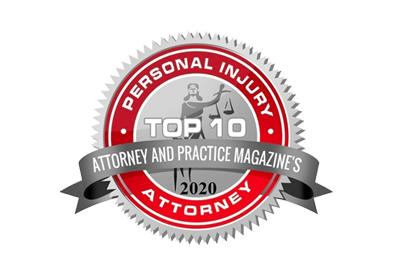 Personal Injury Top 10 Attorneys by Practice Magazine 2020