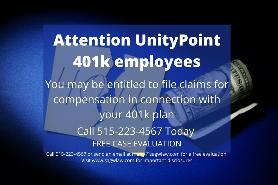 UnityPoint 401(k) Plan Member Alert